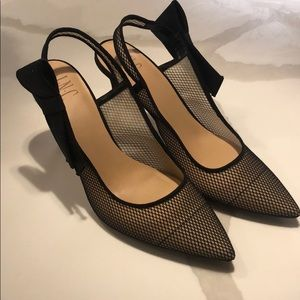 Black Bow Sling Backs